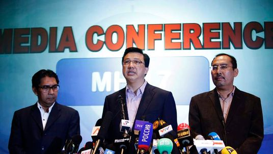 Malaysia's Transport Minister Liow Tiong Lai speaks during a news conference at a hotel near the Kuala Lumpur International Airport in Sepang