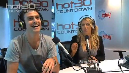 Michael Christian and Mel Greig talking on the hot30 countdown on  2dayfm