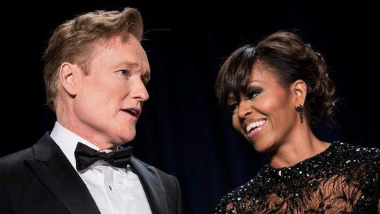 Conan O'Brien and Michelle Obama