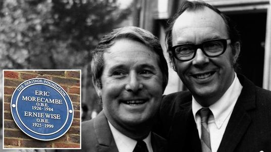 Morecambe and Wise and the blue plaque unveiled in their memory