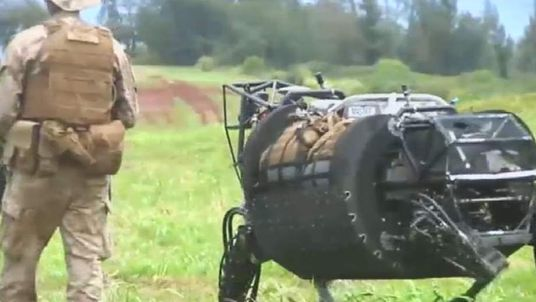 Robotic mule used by US military