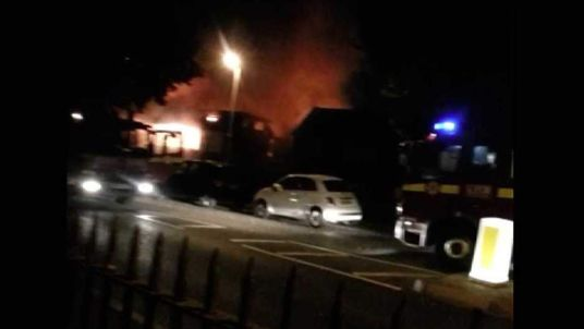Ben McLusky filmed this footage of the fire an Islamic community centre in Muswell Hill