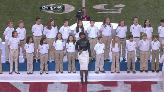 Sandy Hook Elementary School perform at the Super Bowl