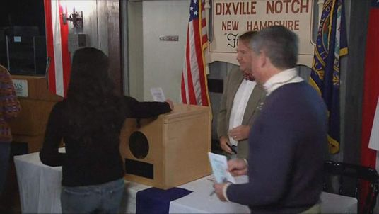 Voting in the US presidential election in Dixville New Hampshire