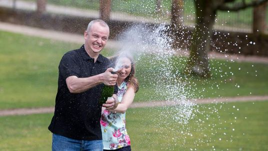Euromillions lottery jackpot winner Neil Trotter and girlfriend Nicky Ottaway