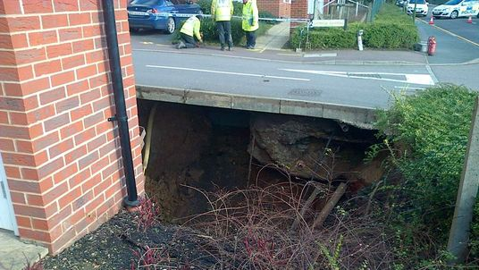 Sinkhole opens up in Hemel Hempstead