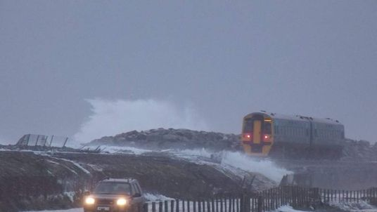Storms have damaged rail lines in North Wales