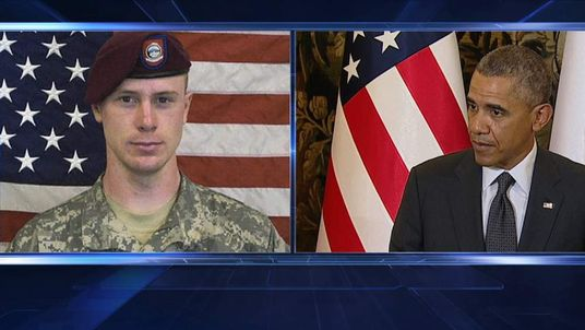 Sgt Bowe Bergdahl and President Barack Obama