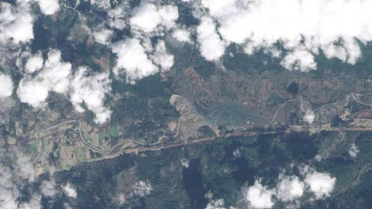Mudslide from space