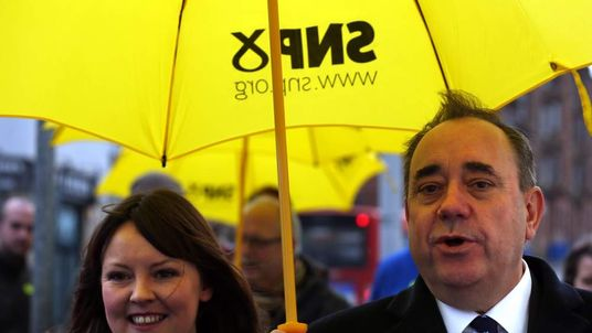 Natalie McGarry with former leader Alex Salmond