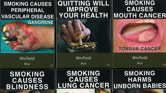 Undated handout photo issued by Action on Smoking and Health of examples of Winfield cigarette packaging