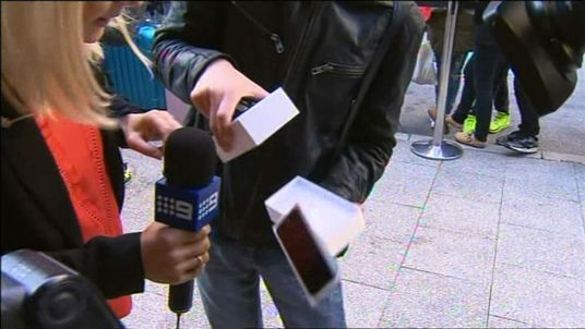 The first iPhone purchased in Australia