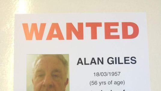 Alan Giles wanted poster