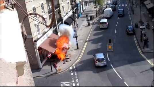 The fireball ignited on a London street