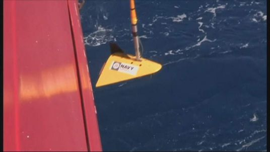 The pinger locator being dragged behind ADV Ocean Shield