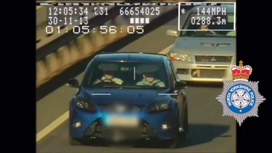 Police catch driver travelling at 144mph