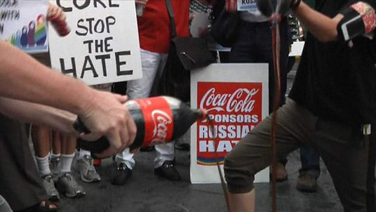 Coke protests