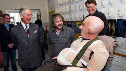 Prince Charles, Peter Hambleton And Sir Peter Jackson