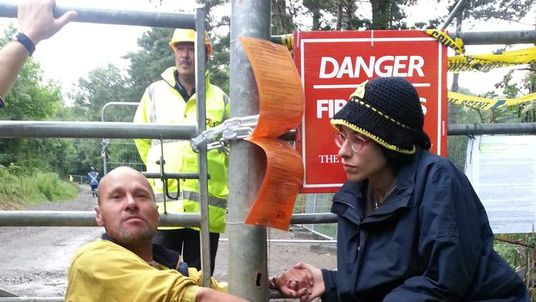 Anti-fracking protest Balcombe