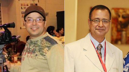 Gundev Ghimire (L) and Krishna Upadhyaya (R)