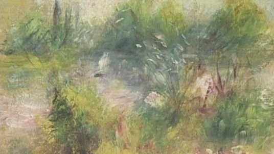 The painting believed to be an original Renoir