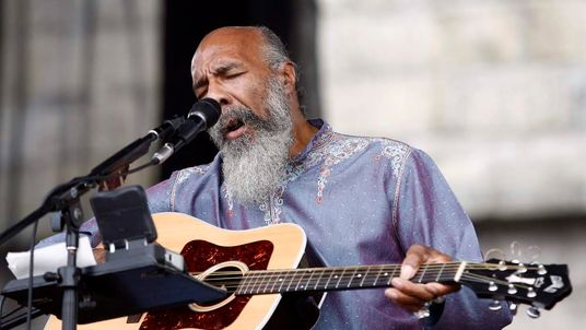 Richie Havens performs at the Newport Folk Festival