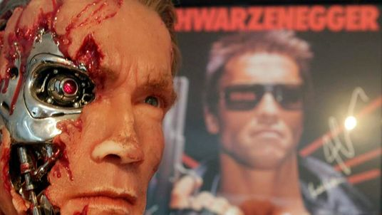 A figure from the movie The Terminator