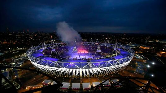 The Olympic Stadium during the opening ceremony