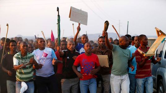 Miners vent their anger at Lonmin's Marikana mine