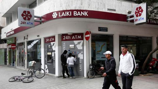 Laiki bank in Nicosia