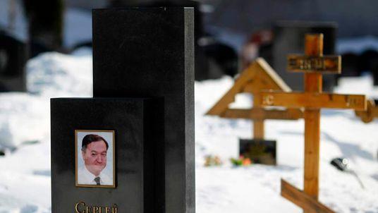 Sergei Magnitsky's grave in the Preobrazhensky cemetery in Moscow