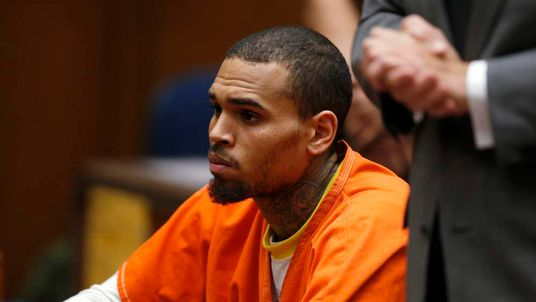 R&B singer Chris Brown, who pleaded guilty to assaulting his girlfriend Rihanna, appears in court in Los Angeles