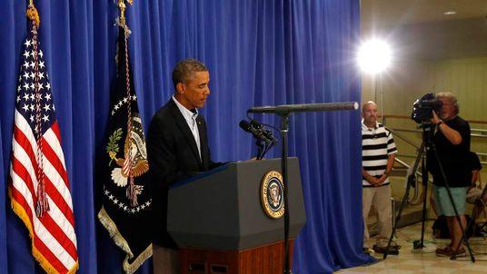 U.S. President Obama speaks about Iraq and the shooting in Ferguson, Missouri on Martha's Vineyard