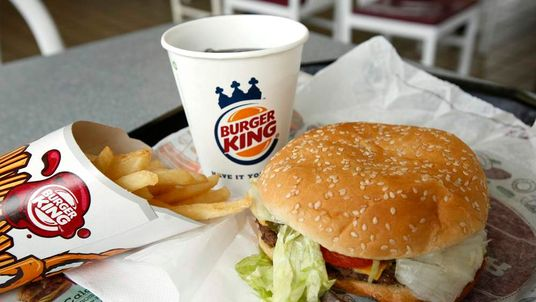 A meal at a Burger King restaurant