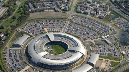 Handout aerial photograph shows Britain's Britain's Government Communications Headquarters in Cheltenham