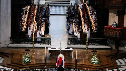 The funeral of Baroness Margaret Thatcher