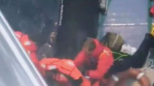 Rescue of sailor