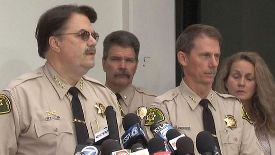 SANTA BARBARA COUNTY SHERIFF BILL BROWN (left)