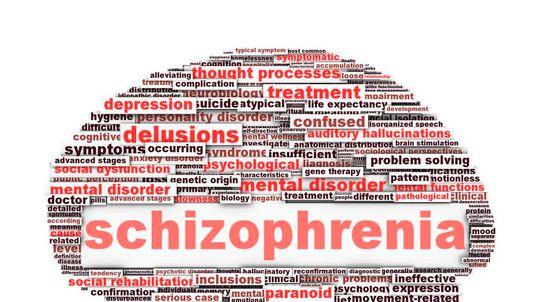 Schizophrenia symbol conceptual design