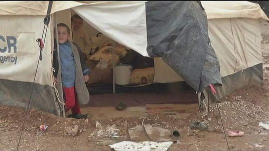 Refugee camp for Syrians