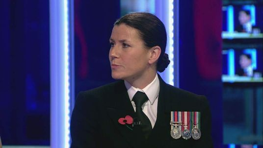 Lieutenant Katie Kendrick of the Royal Naval Reserve