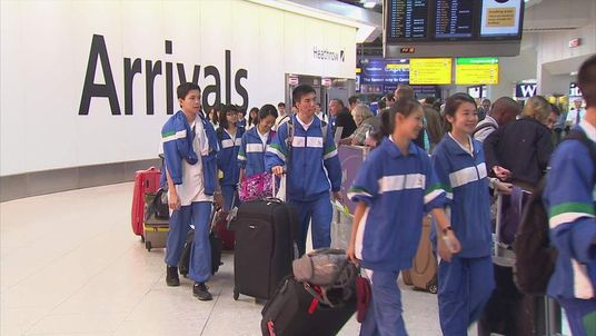 Arrivals at Heathrow before the London Olympics