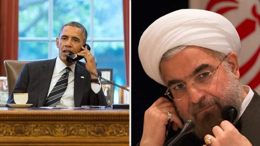 Barack Obama and Hassan Rouhani