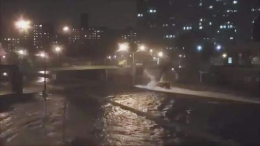 Superstorm Sandy in New York.