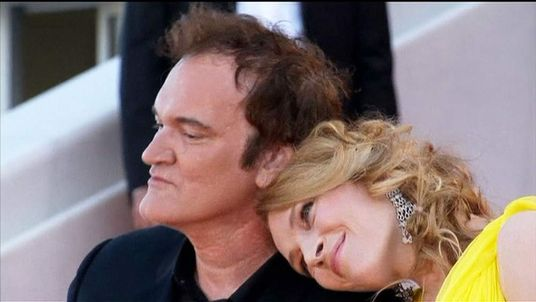 Quentin Tarantino with Uma Thurman at Cannes
