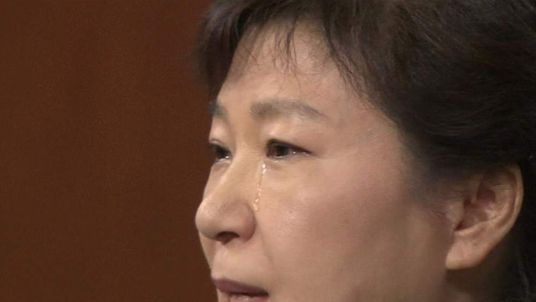 South Korea President sheds tears