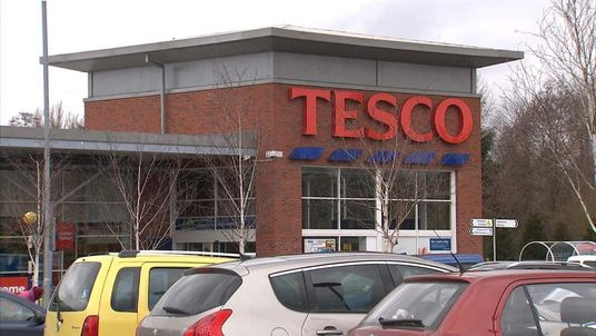 Tesco Store Front In Winter