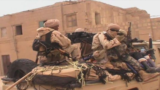 Timbuktu militants on truck