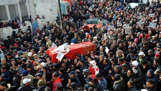 Chokri Belaid funeral