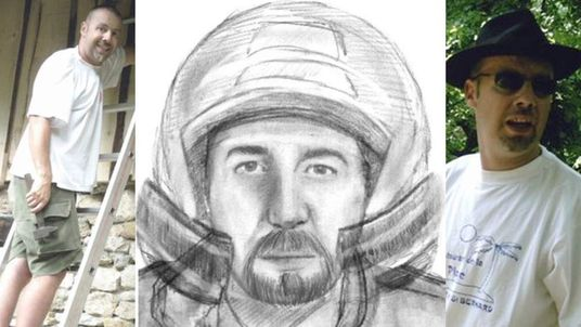 Suspect In Alps Murders And Police Sketch